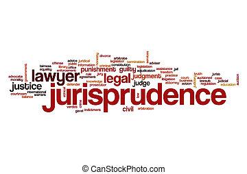 Jurisprudence word cloud concept
