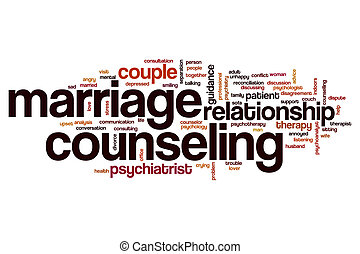 Marriage counseling word cloud concept