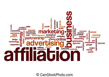 Affiliation word cloud concept