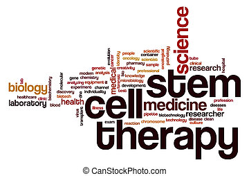Stem cell therapy word cloud