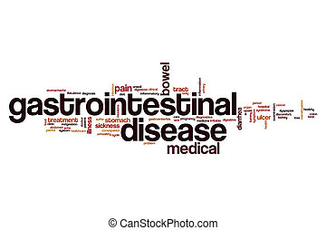 Gastrointestinal disease word cloud concept
