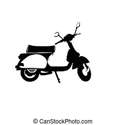 vespa vector illustration