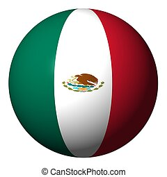 Mexican flag sphere illustration