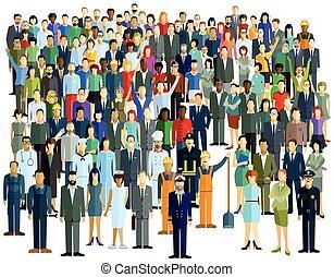 Menschen Gruppe.eps - Large Crowd