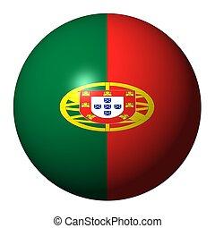 ポルトガル語, 旗, イラスト, 球