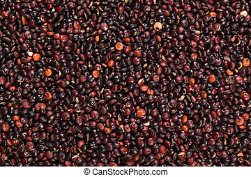 Heap of quinoa, healthy vegan food concept