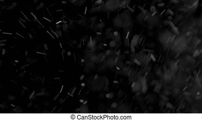 Dust Cloud Isolated Black Background Bubble Bokeh - dust...