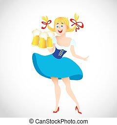 cute cartoon Oktoberfest girl - Cute cartoon Oktoberfest...