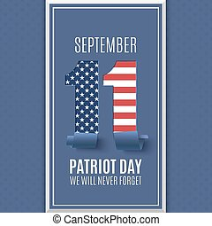 Patriot Day abstract background. 11 September. - Patriot Day...