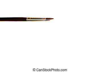 Watercolor brush - A watercolor brush in a white background