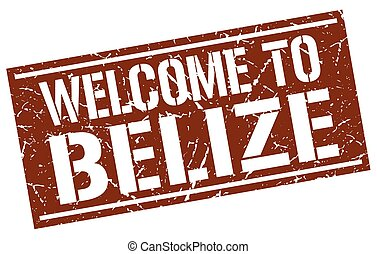 welcome to Belize stamp