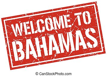 welcome to Bahamas stamp