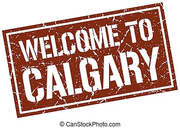 welcome to Calgary stamp