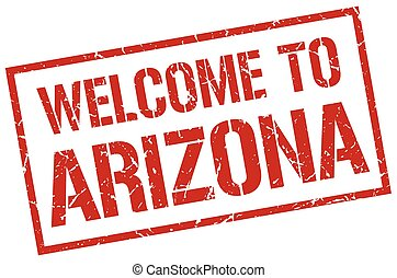 welcome to Arizona stamp