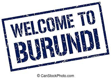 welcome to Burundi stamp