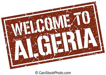welcome to Algeria stamp