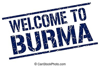 welcome to Burma stamp