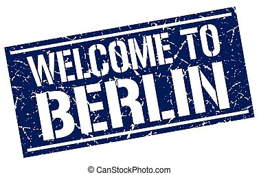 welcome to Berlin stamp