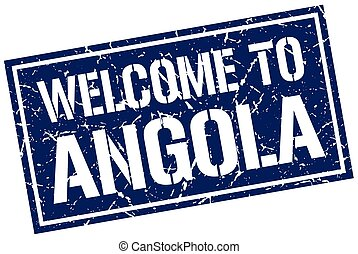 welcome to Angola stamp