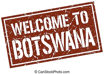 welcome to Botswana stamp