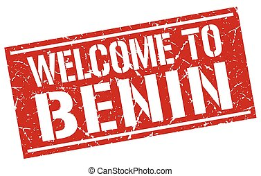 welcome to Benin stamp