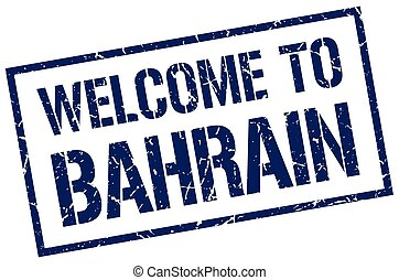 welcome to Bahrain stamp