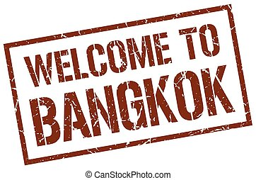 welcome to Bangkok stamp
