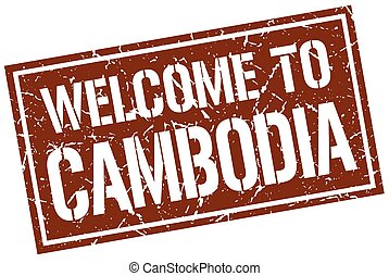 welcome to Cambodia stamp