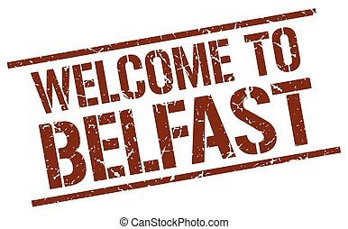 welcome to Belfast stamp