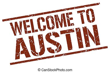 welcome to Austin stamp