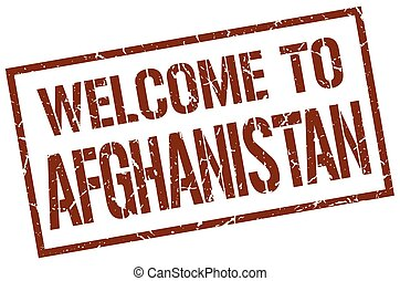 welcome to Afghanistan stamp