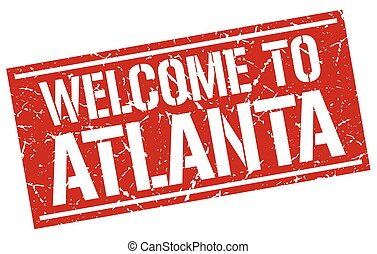 welcome to Atlanta stamp