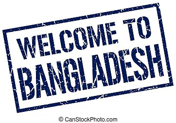 welcome to Bangladesh stamp