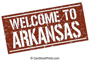 welcome to Arkansas stamp