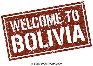 welcome to Bolivia stamp
