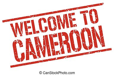 welcome to Cameroon stamp