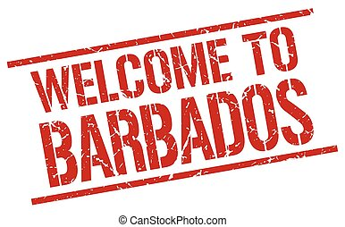 welcome to Barbados stamp