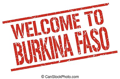 welcome to Burkina Faso stamp