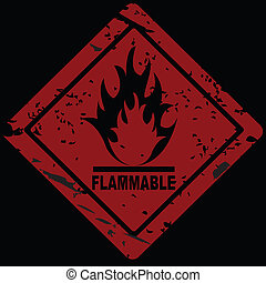 Flammable Fire Hazard warning symbol