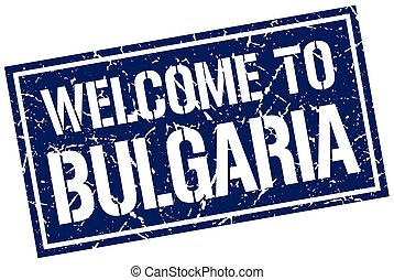 welcome to Bulgaria stamp