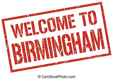 welcome to Birmingham stamp
