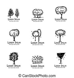 Trees collection, sketch for your design