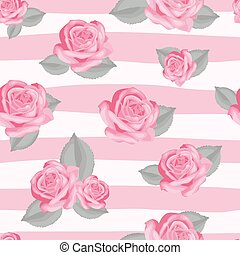 Retro floral seamless pattern.