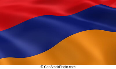 Armenian flag in the wind Part of a series