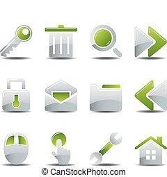 Business icons set - Business office icons set