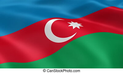 Azerbaijani flag in the wind. Part of a series.