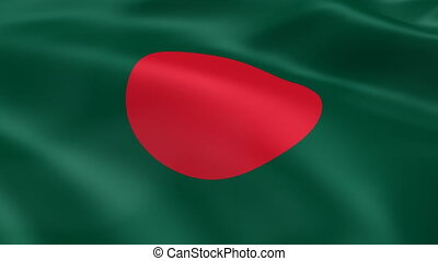Bangladeshi flag in the wind Part of a series
