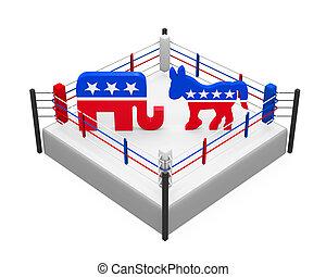 Democrat and Republican Icon