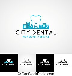 Dental logo template. Teethcare icon set. dentist clinic insignia, doctor practice sign, orthodontist illustration concept for stationary, tooth branding t-shirts picture, business card graphic, medical products or medicine poster image.