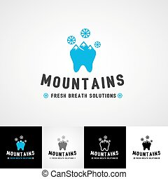 Dental logo template. Teethcare icon set. dentist clinic insignia, medical practice sign, illustration, teeth vector design, oral hygienist concept for stationary, business card graphic, medical products or medicine poster image